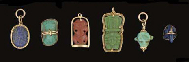 A GROUP OF EGYPTIAN HARDSTONE,