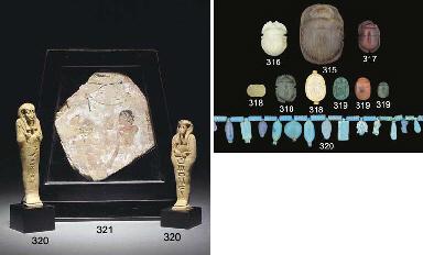 FOUR EGYPTIAN GLAZED COMPOSITI