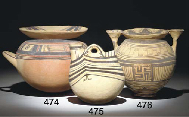 A PEUCETIAN POTTERY STAMNOS