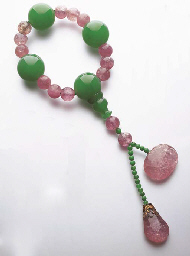 A SET OF JADEITE FOTOU BEADS A