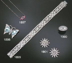 A TOPAZ AND DIAMOND BUTTERFLY