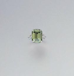 A TREATED GREEN DIAMOND AND DI