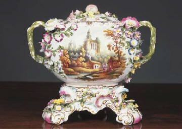 A Minton 'Globe' pot pourri va