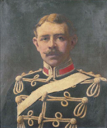 Portrait of an officer, bust-l