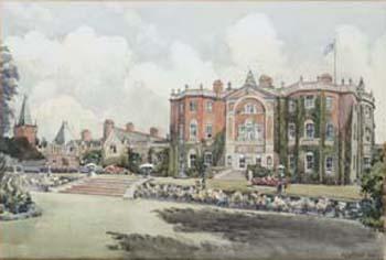 Bostock Hall, the garden front