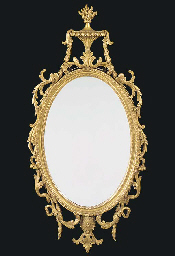 A GILTWOOD PIER GLASS OF GEORG