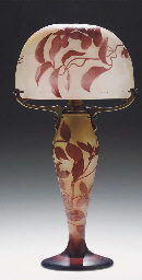 A CAMEO GLASS TABLE LAMP