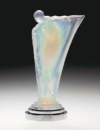 An opalescent glass figure