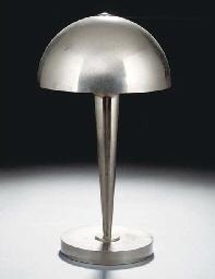 A nickel plated metal table la