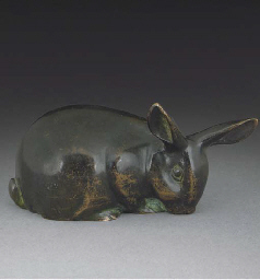 'Lapin Broutant' A patinated b