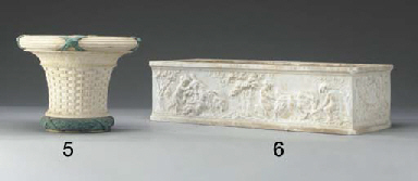A bronze-mounted white marble
