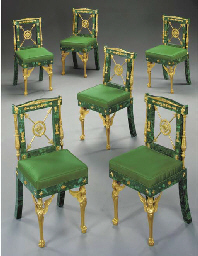 A set of six Empire style ormo