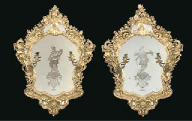 A pair of Italian Baroque styl