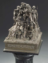 A Neapolitan bronze group of t
