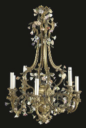 A Louis XV style ormolu, tole