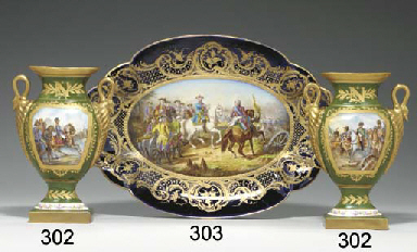 A PAIR OF NAPOLEONIC GREEN-GRO