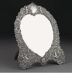 A Victorian Silver-framed Mirr