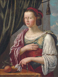 Portrait of a lady, standing h
