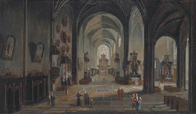 A church interior with elegant