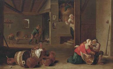 A kitchen interior with peasan