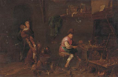 A peasant family in their work