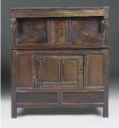 An English oak court cupboard
