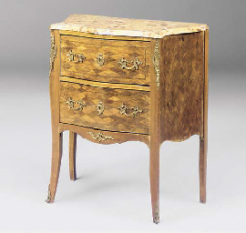 A GERMAN FRUITWOOD AND PARCEL