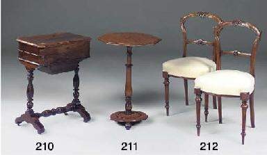 A set of six Victorian walnut