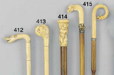 A marine ivory walking stick