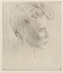 Tête de femme, de Profil, from