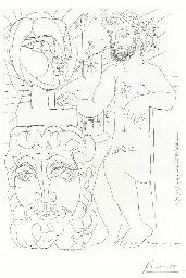 Sculpteur et Deux Têtes sculpt
