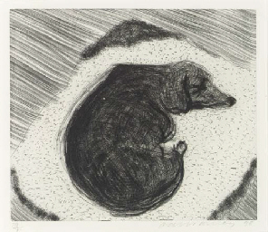 Dog Etching #3, from Dog Wall