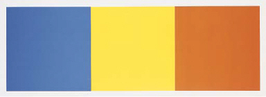 Blue, Yellow and Red Squares (