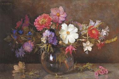 Various flowers in a vase