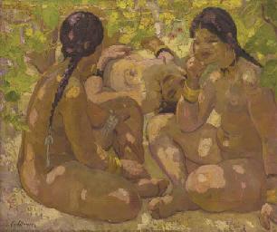 Nudes under foliage