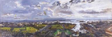 Panoramic view of Manila
