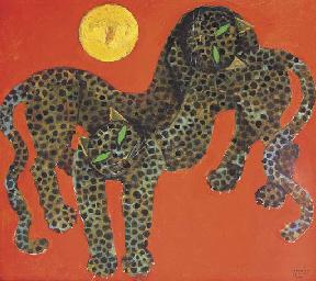 Dua macan dan matahari (Two le