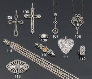 An Edwardian diamond and pearl