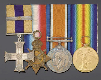 A GREAT WAR MILITARY CROSS AND