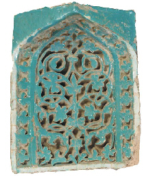A TURQUOISE GLAZED POTTERY NIC