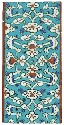 AN IZNIK POTTERY BORDER TILE
