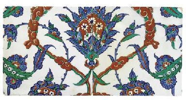 TWO IZNIK POLYCHROME POTTERY TILES