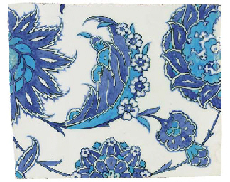 AN IZNIK BLUE AND WHITE POTTER