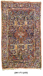 A PAIR OF KURK KASHAN RUGS