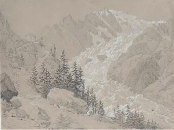 Vue du Mont Blanc du Glacier d