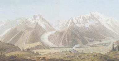 View of the Vallée of Chamonix