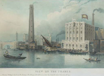 View on the Thames showing God