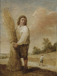 A harvester in a landscape