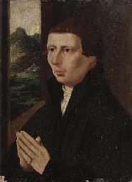 Portrait of a young man, half-