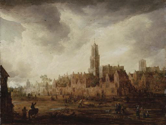 A view of Antwerp with townsfo